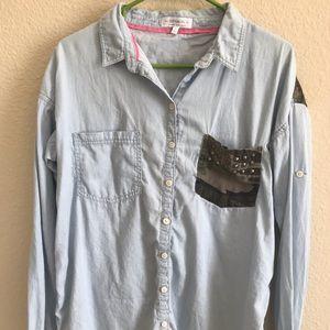 Cotton On | Button Up Long Sleeve Denim Shirt